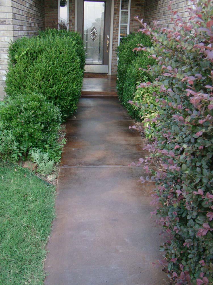 Concrete Dye Walkway
