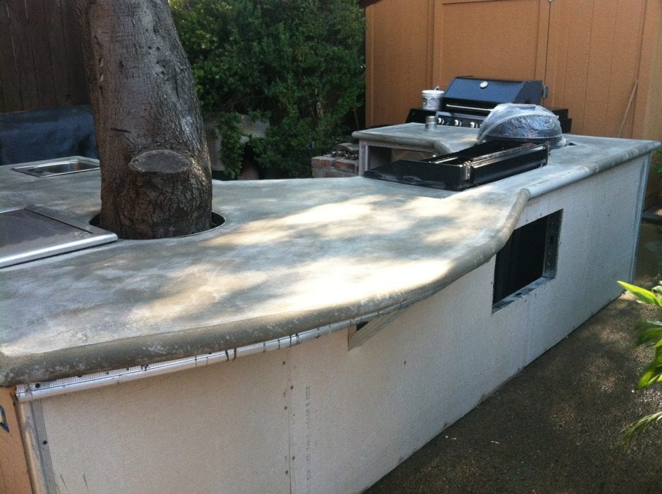 Outdoor Concrete Kitchen Countertop, Staining Outdoor Concrete Countertops