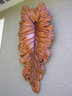 Acid Stained Concrete Leaf