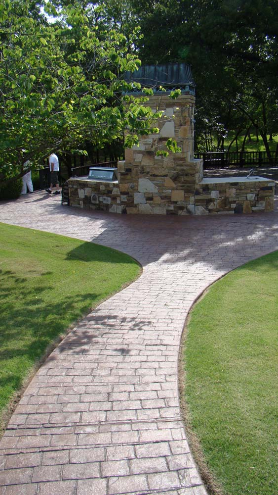 Design by project: Outdoor Stamped Colored Concrete