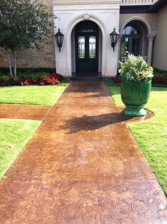 Stamped Acid Stained Walkway