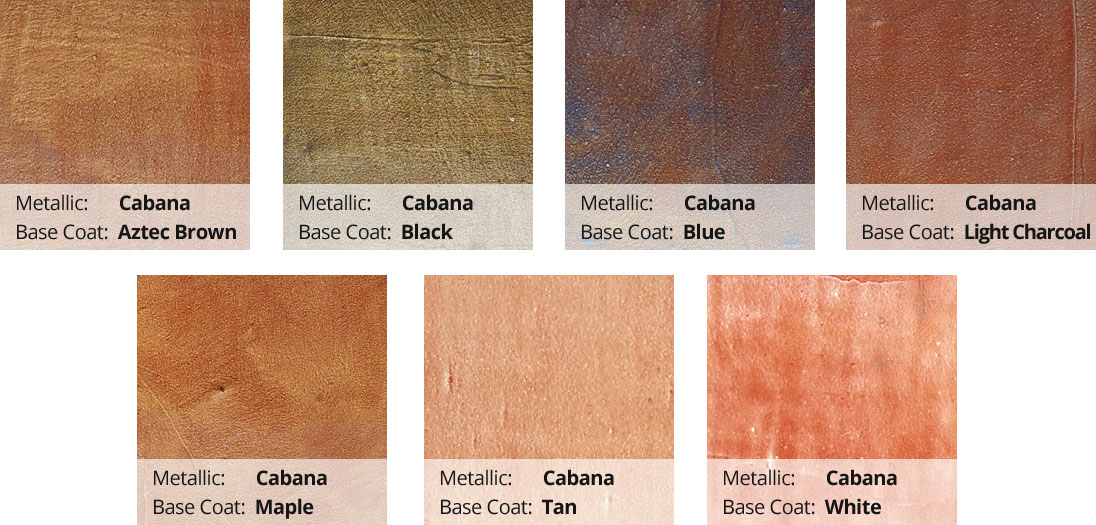 Metallic Epoxy Pigment Color Chart - Cabana