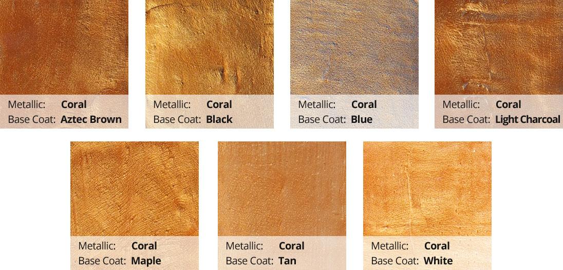 Metallic Epoxy Pigment Color Chart - Coral