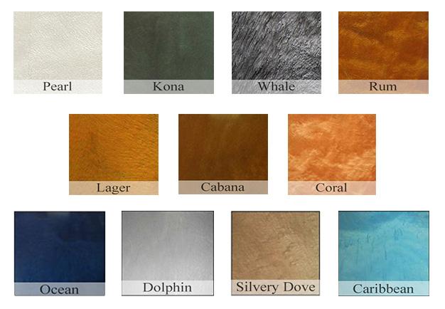 Metallic Epoxy Pigment Color Chart