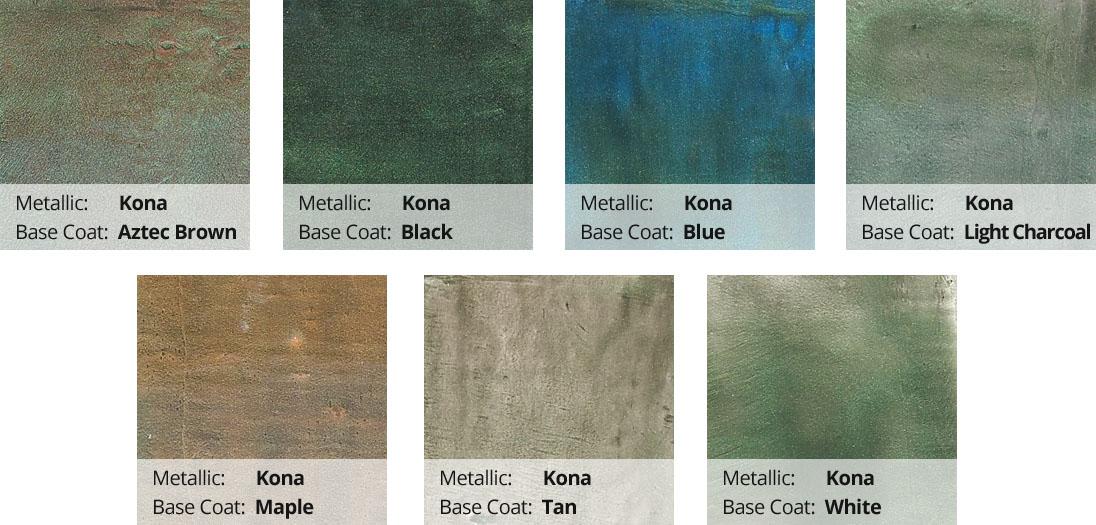 Metallic Epoxy Pigment Color Chart - Kona