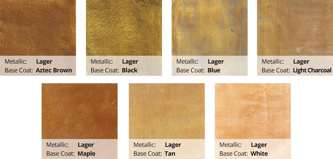 Metallic Epoxy Pigment Color Chart - Lager