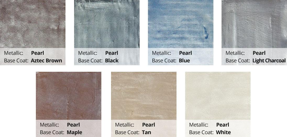 Metallic Epoxy Pigment Color Chart - Pearl