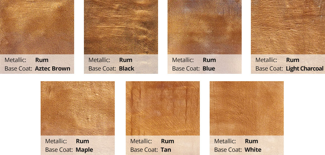 Metallic Epoxy Pigment Color Chart - Rum