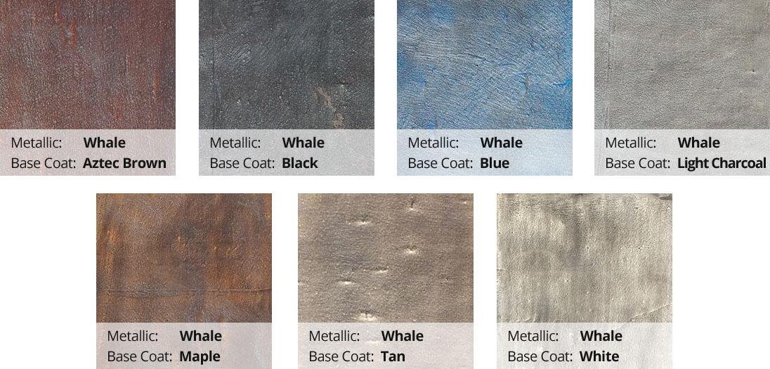 Metallic Epoxy Pigment Color Chart - Whale