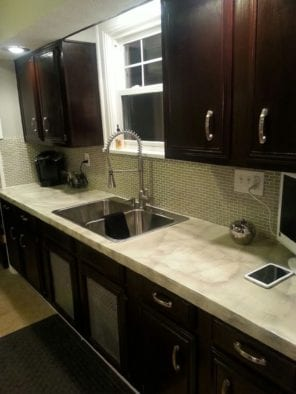 DIY Kitchen Countertop Remodel After