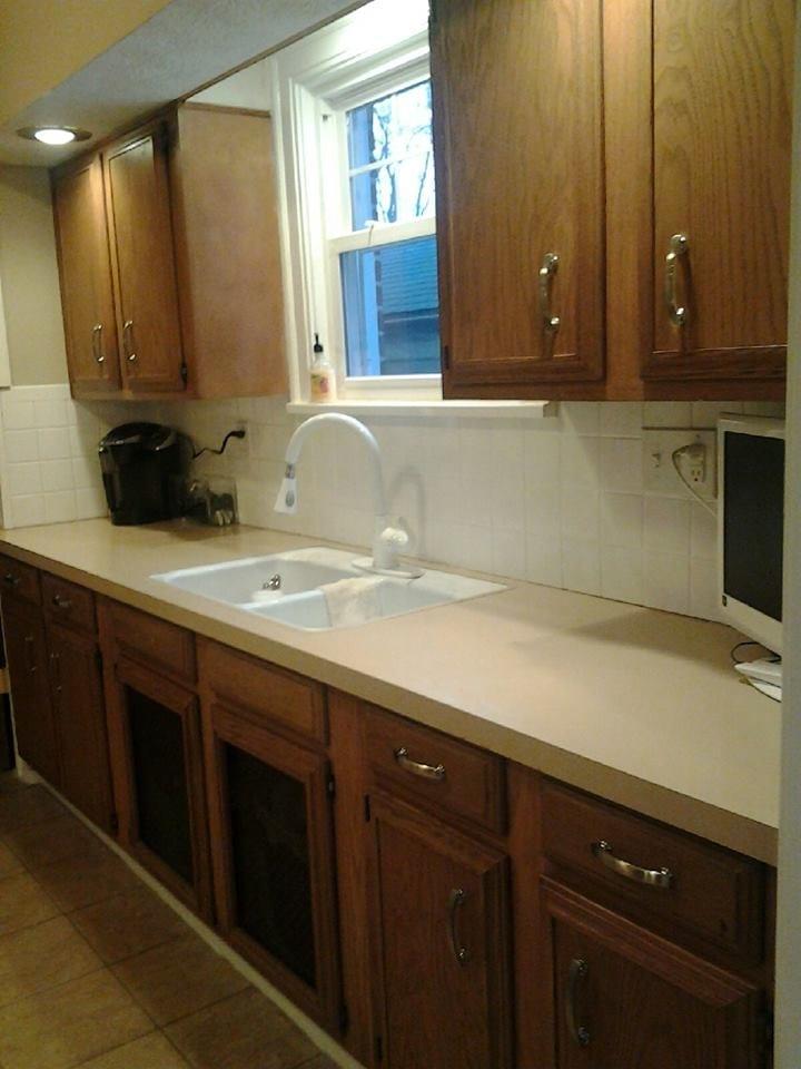 DIY Kitchen Countertop Remodel Before