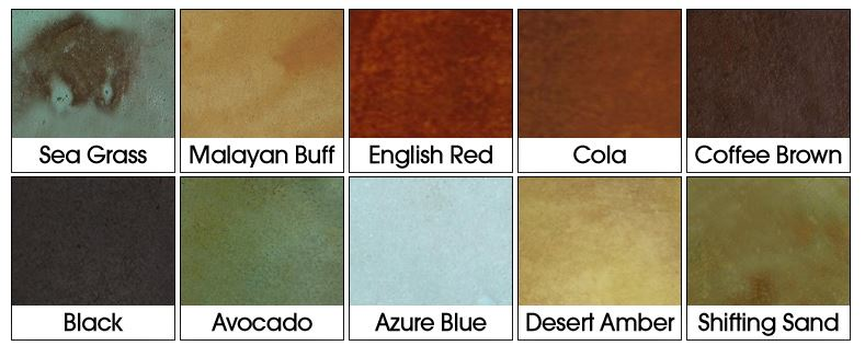Acid Stain Colors