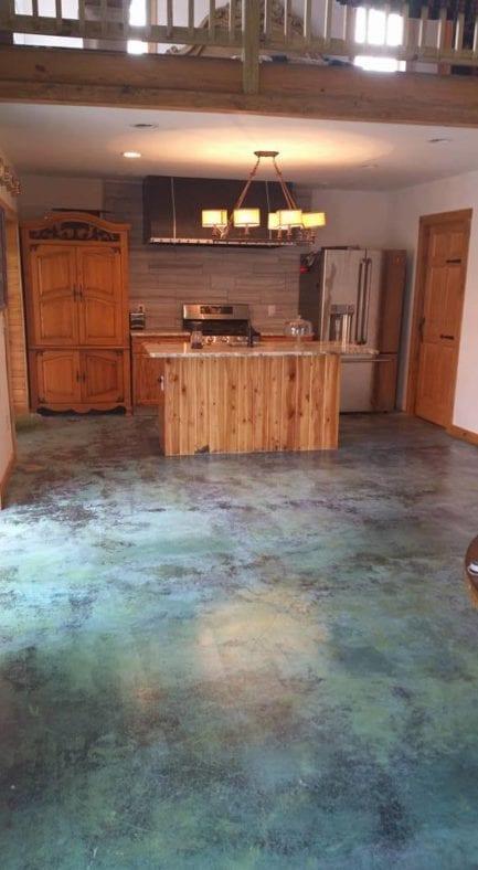 Blue Acid Stain Color Floor