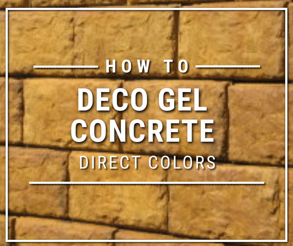 How to apply deco gel to concrete