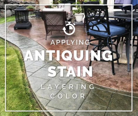 Concrete Patio Staining - Layering Antiquing Stain Colors