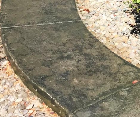 Concrete Walkway - Black and Olive Antiquing Stains