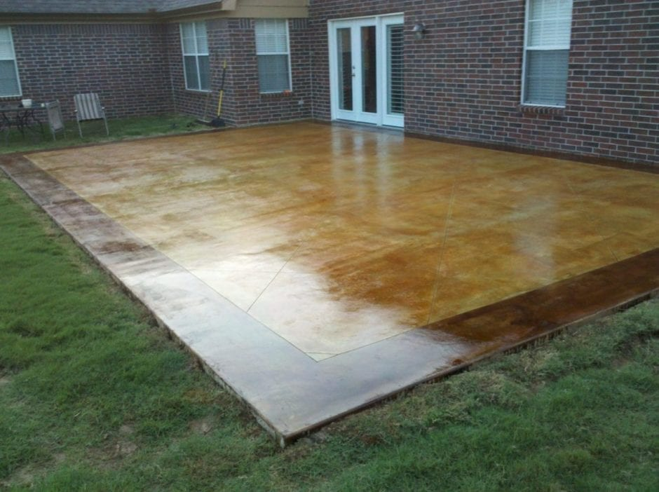 Pouring Acid Stain Ready Concrete