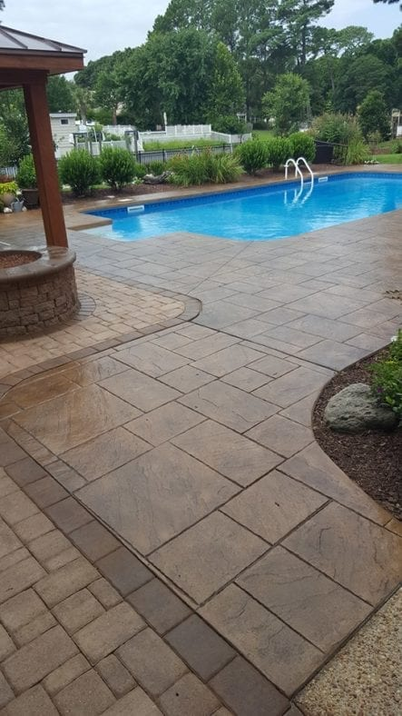 Refinished Concrete Pool Deck