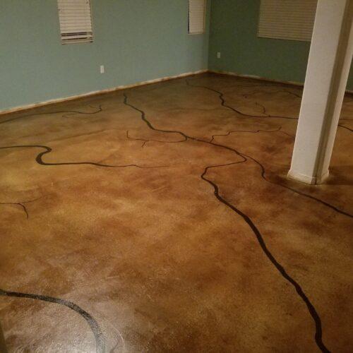Acid Stain Flooring Design
