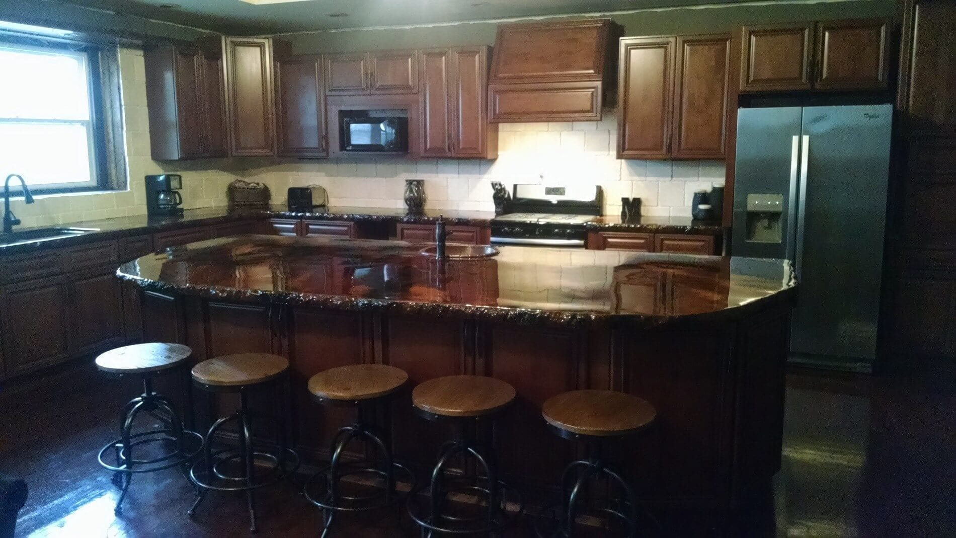 Design by project: Marbling Acid Stain on Kitchen Countertops