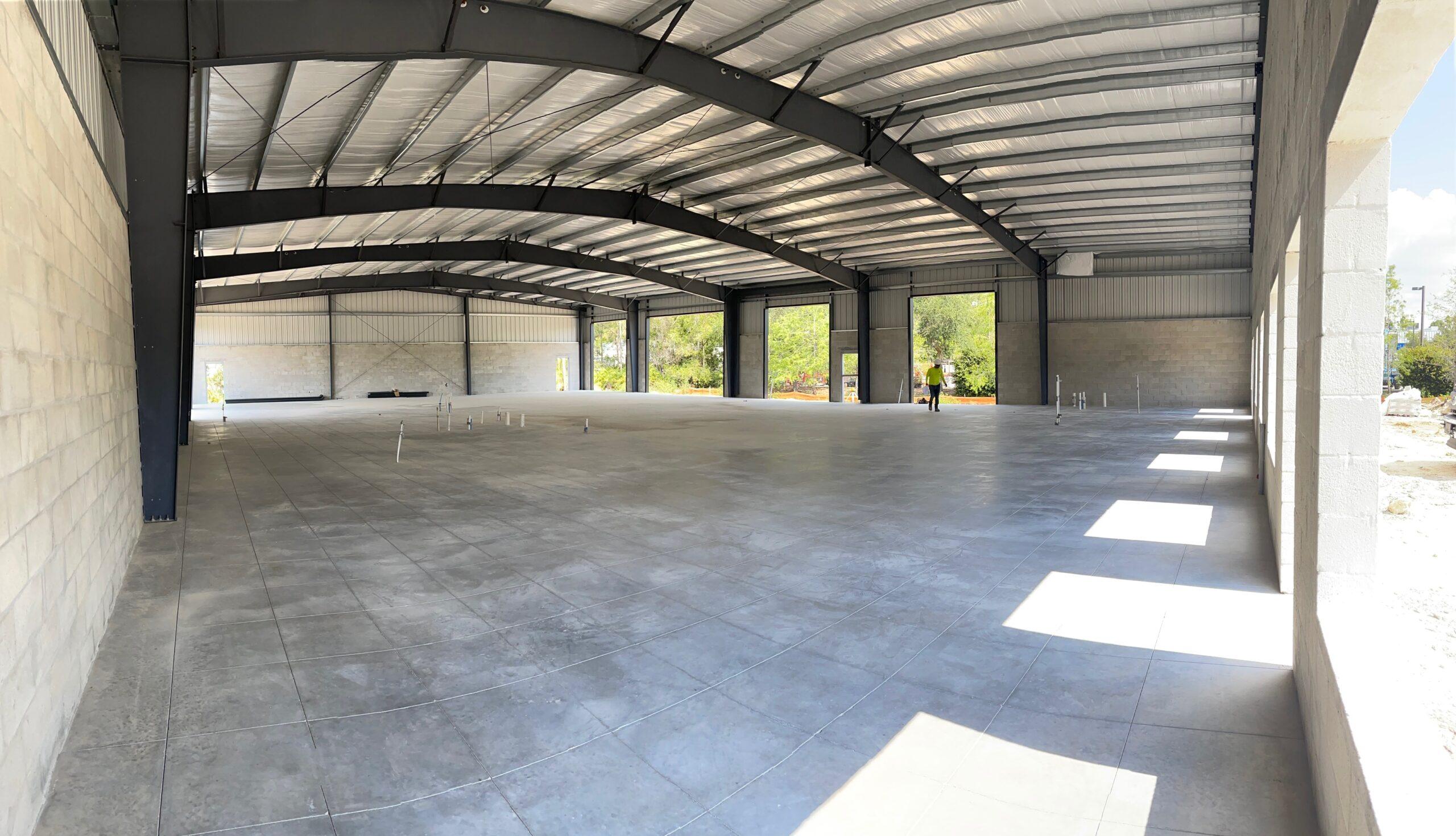 Commercial concrete floor