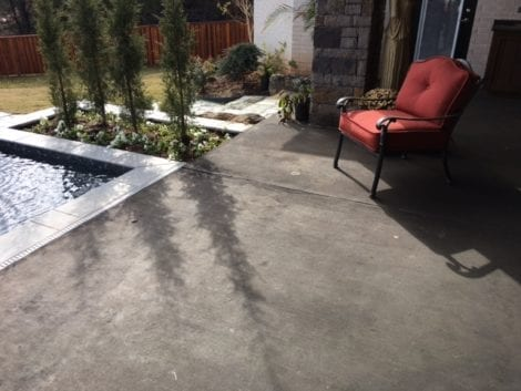 Black Stained Concrete Patio