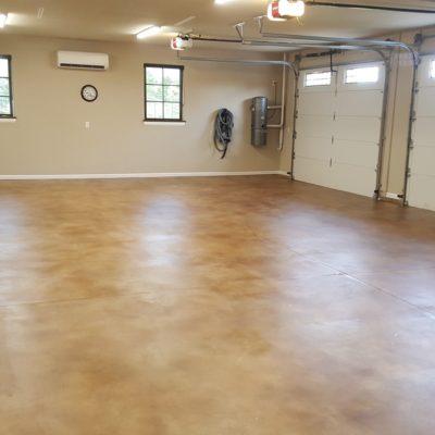 Garage Floor Sealed with Satin Finish Acrylic Concrete Sealer