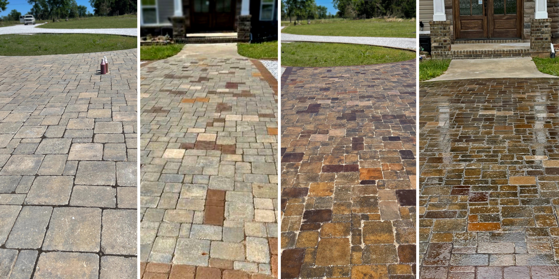 Concrete Driveway Pavers Staining Step by Step