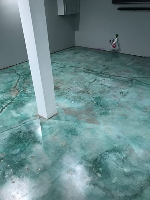 Design by color: Azure Blue Concrete Stain Project Gallery