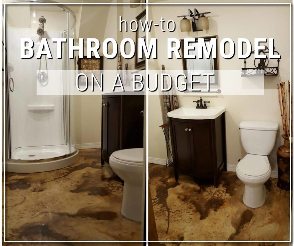 Design by project: DIY Acid Stained Concrete Bathroom Floor
