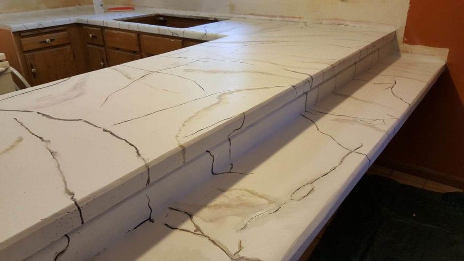 White Marble Epoxy Countertop