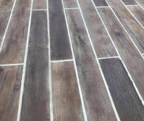 Concrete Wood Floor Driveway