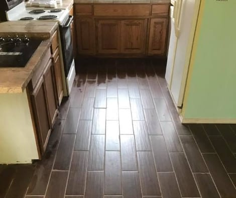 Faux Wood Concrete Floor