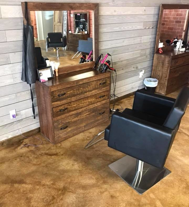 Acid Stained Hair Salon Concrete Floor
