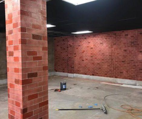 Faux Red Brick Concrete Wall Stencil
