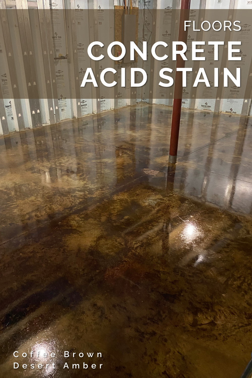 Concrete Acid Stained Floor - Coffee Brown & Desert Amber