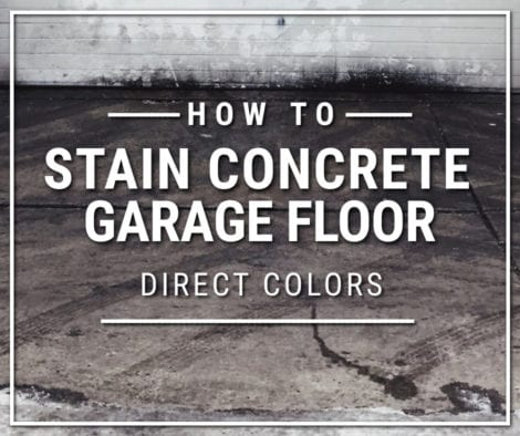 Concrete Garage Floor Stain