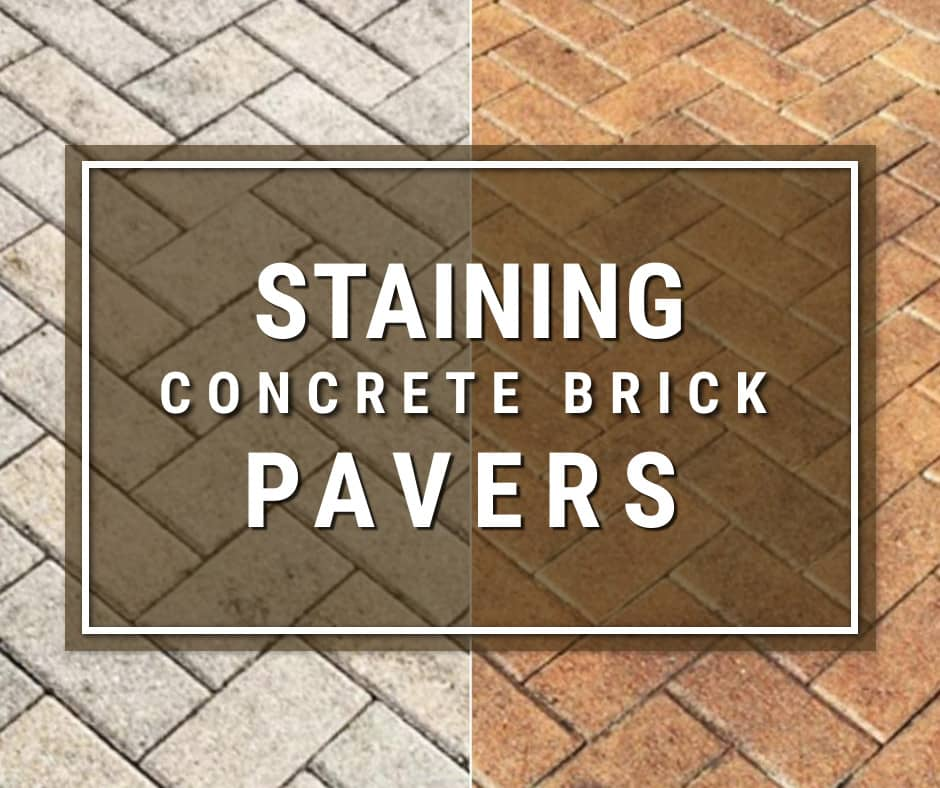 Can You Stain Concrete Brick Pavers