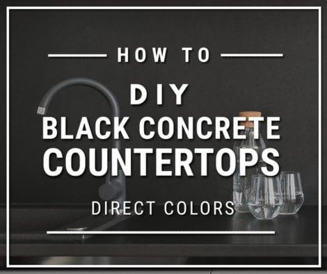 How to Make Black Concrete Countertops