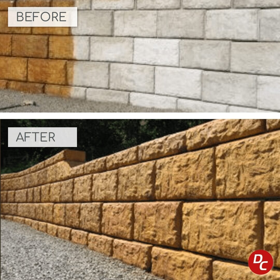 Design by colorant: How to Acid Stain Concrete Retaining Walls