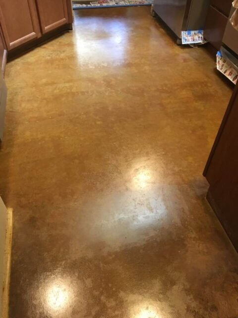 Acid Stained Concrete Kitchen Floor