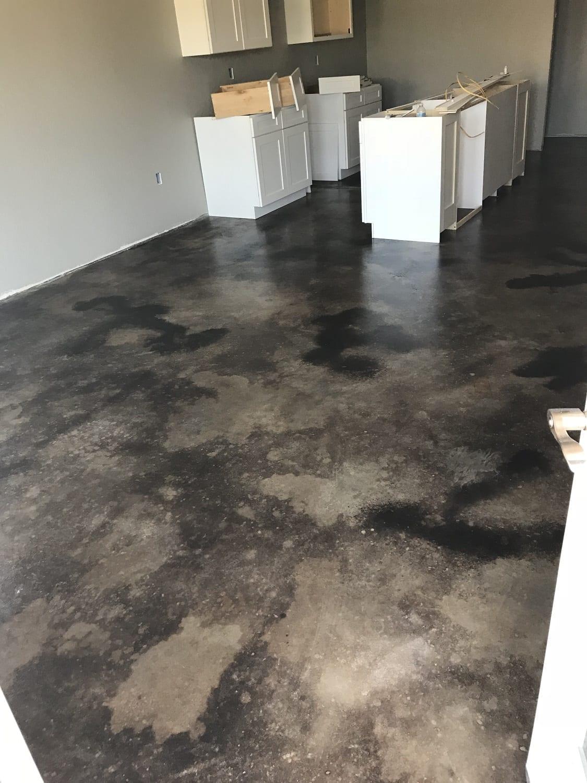 Black Stained Concrete Floor