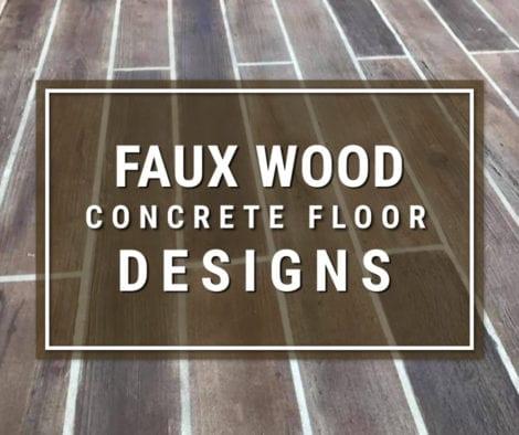 Faux Wood Concrete Designs