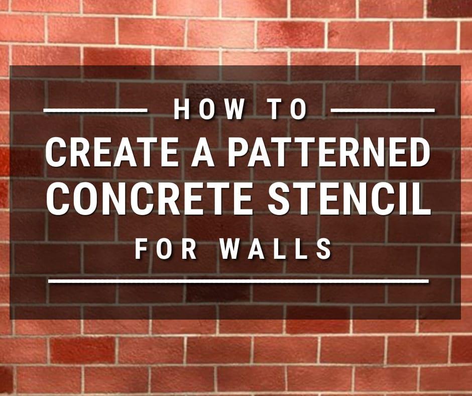 Design by colorant: Creating a Faux Brick Concrete Stencil Design