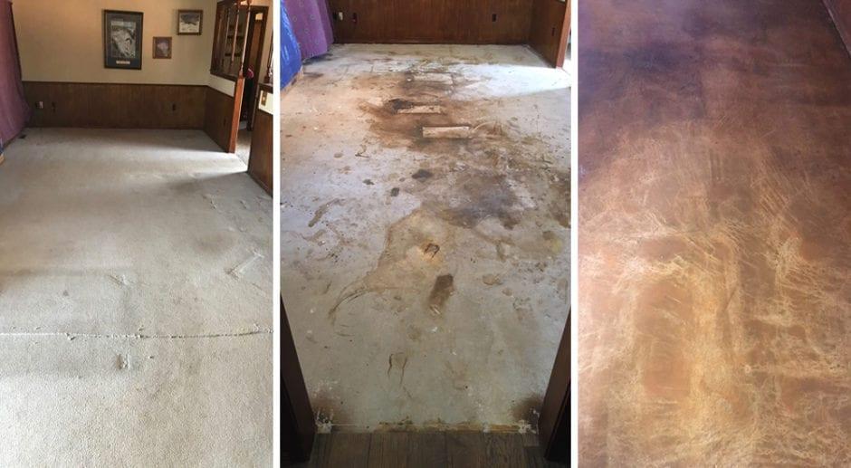 Tinted Sealer Floor Renovation