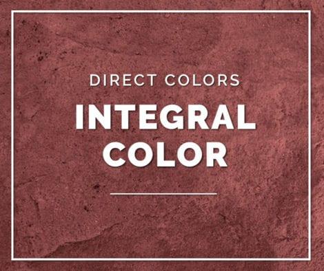 Integral Color Concrete
