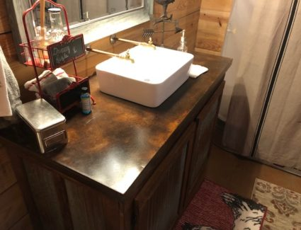 Acid Stained Concrete Bathroom Countertop
