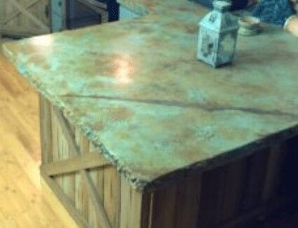 Rustic Concrete Countertop