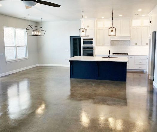 Design by project: Using Concrete Dye Colors to Stain Concrete Floors on a Budget