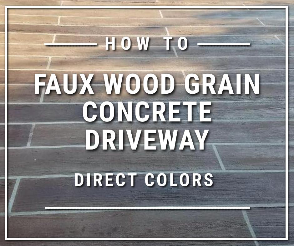 Faux Wood Grain Concrete Driveway